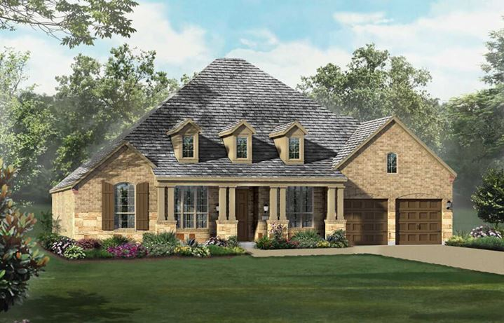 Highland Homes Plan 262 Elevation C in The Grove Frisco
