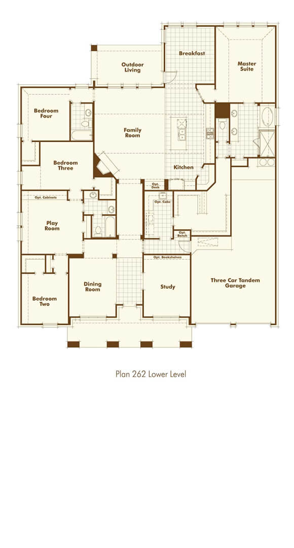 Highland Homes Plan 262 Floorplan in The Grove Frisco