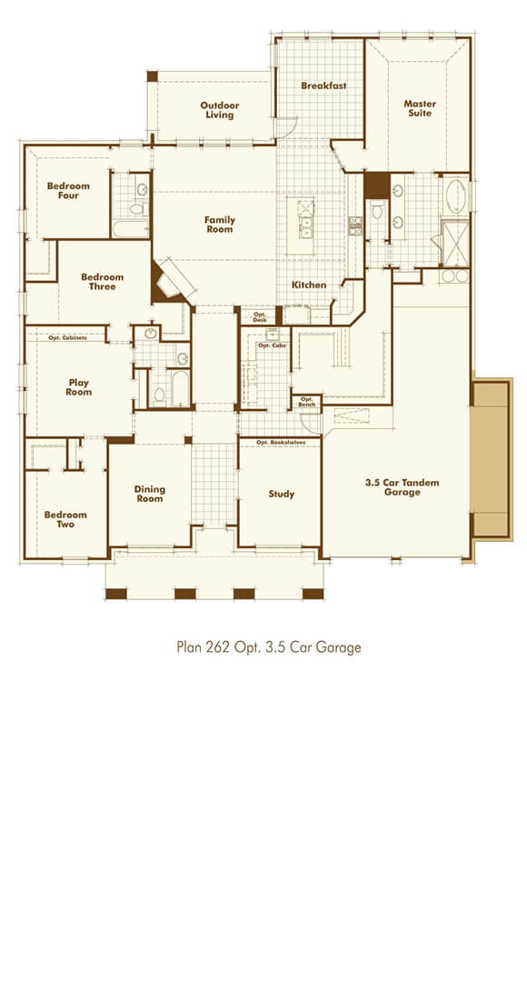 Highland Homes 262 Floorplan in The Grove Frisco