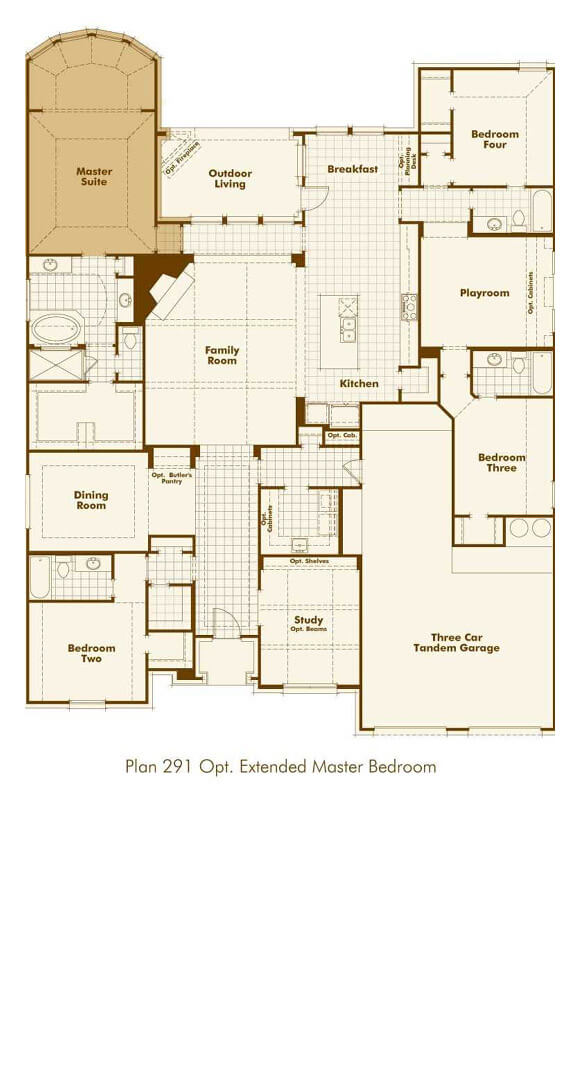Highland Homes 291 Floorplan in The Grove Frisco