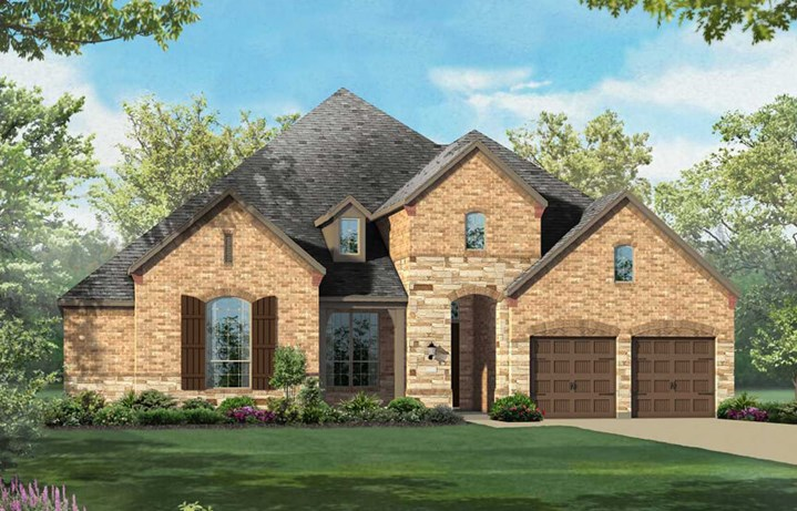 Highland Homes Plan 292 Elevation C in The Grove Frisco