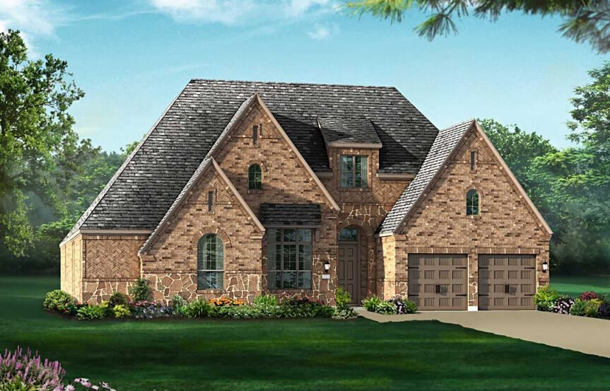 Highland Homes Plan 292 Elevation D in The Grove Frisco