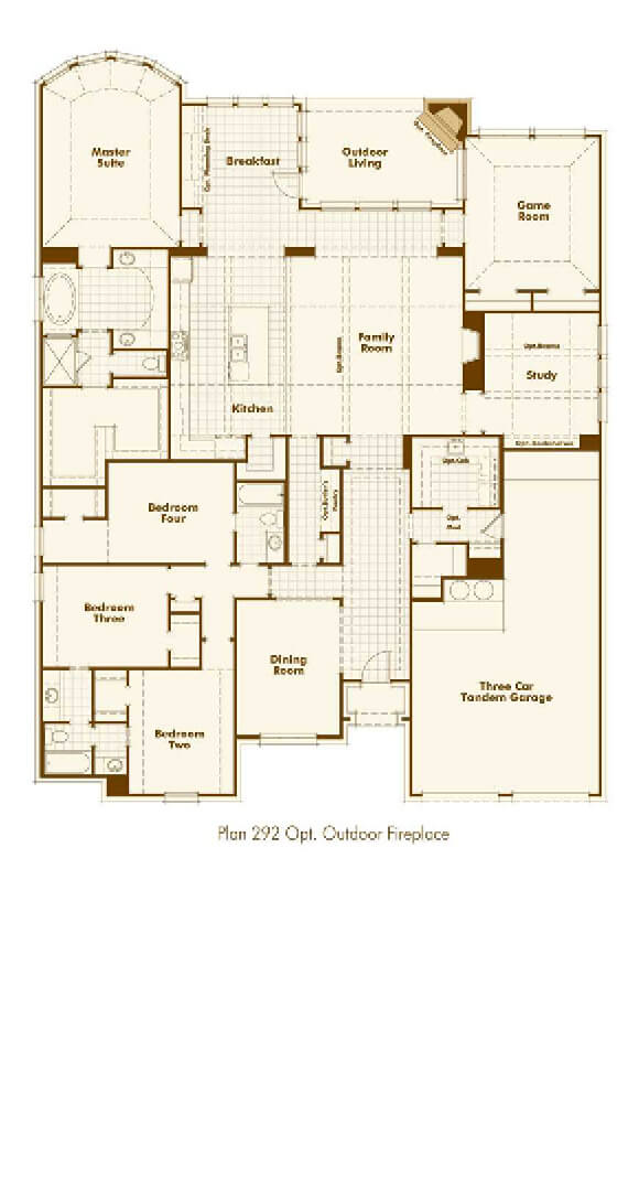 Highland Homes 292 Floorplan in The Grove Frisco