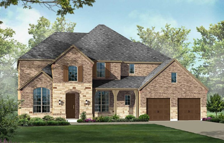 Highland Homes Plan 294 Elevation C in The Grove Frisco
