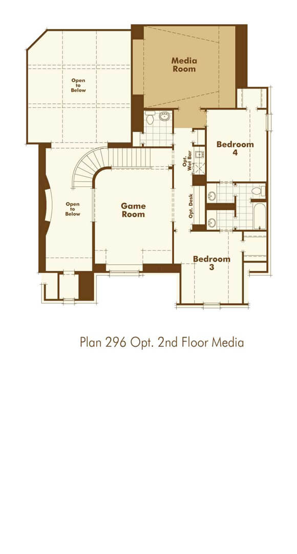 Highland Homes 296 Floorplan in The Grove Frisco
