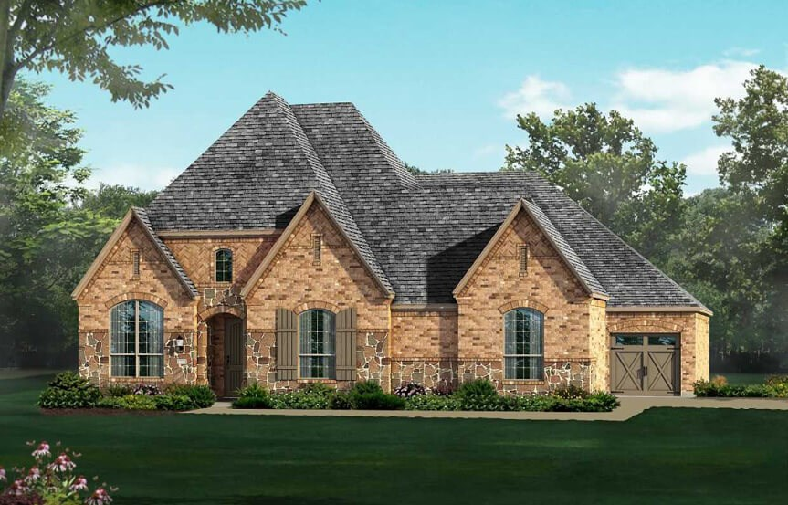 Highland Homes 613 Elevation D in The Grove Frisco