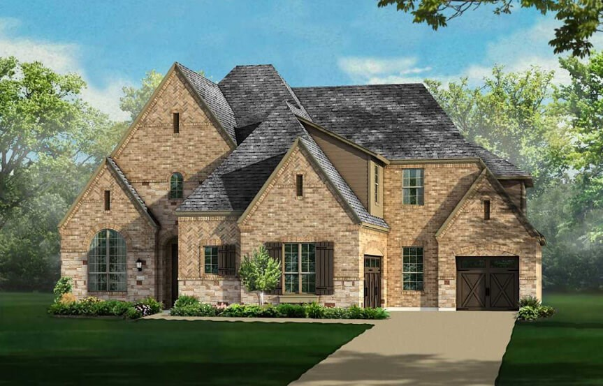 Highland Homes Plan 615 Elevation D in The Grove Frisco