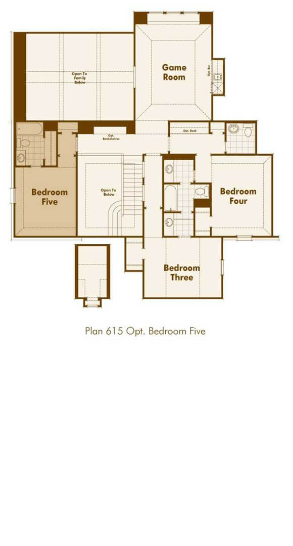 Highland Homes Plan 615 Floorplan in The Grove Frisco