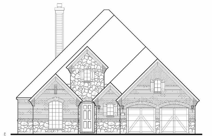 American Legend Plan 1620 Elevation A Stone in The Grove Frisco