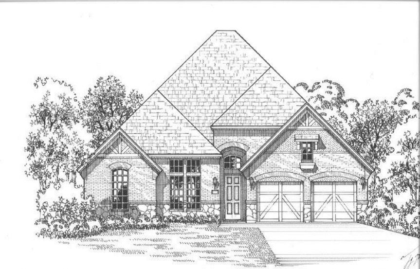 American Legend Plan 631 Elevation A Stone in The Grove Frisco