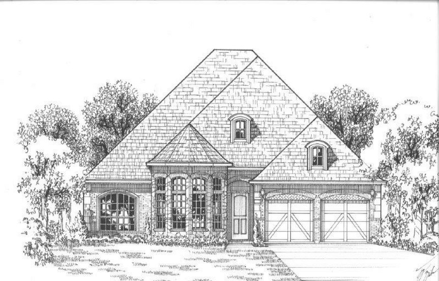 American Legend Plan 631 Elevation B Stone in The Grove Frisco