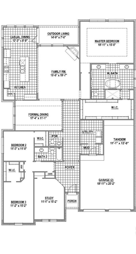 American Legend Plan 631 Floorplan in The Grove Frisco
