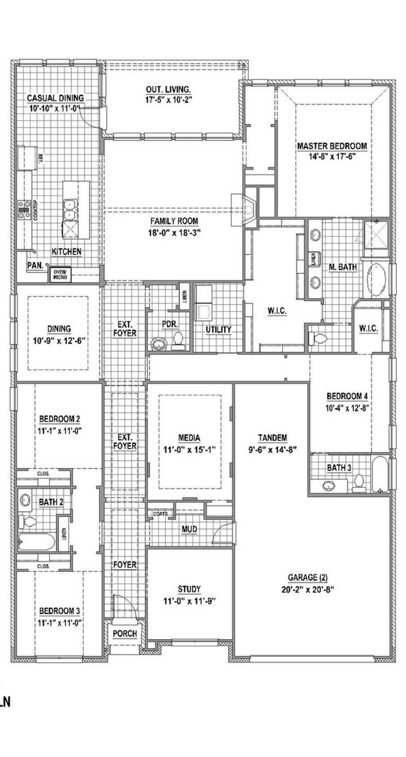 American Legend 1619 Floorplan in The Grove Frisco