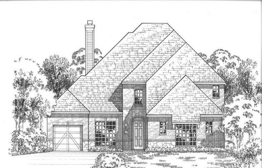 American Legend Plan 634 Elevation A Stone in The Grove Frisco