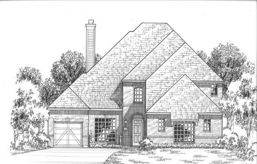 American Legend Plan 634 Elevation A in The Grove Frisco
