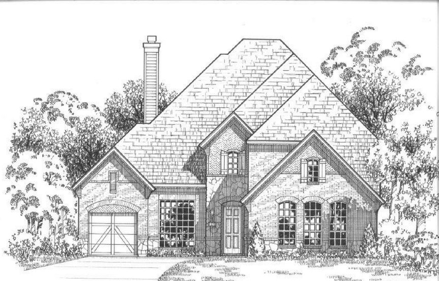 American Legend Plan 634 Elevation B Stone in The Grove Frisco