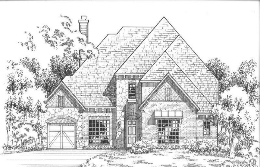 American Legend Plan 634 Elevation C Stone in The Grove Frisco