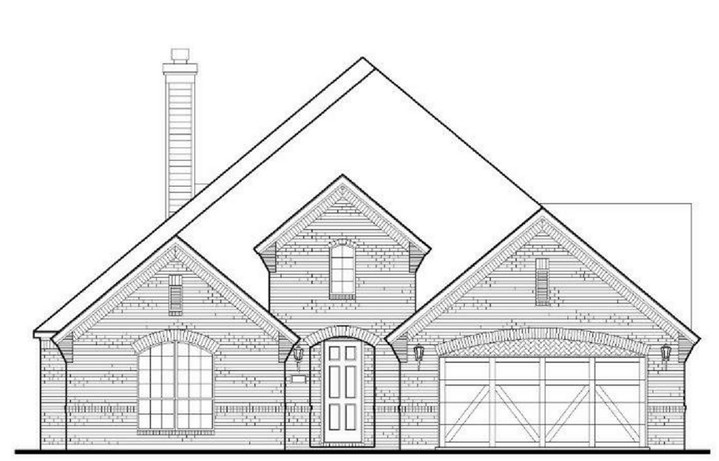 American Legend Plan 1618 Elevation A in The Grove Frisco