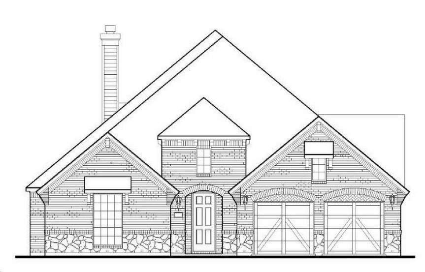 American Legend Plan 1618 Elevation B in The Grove Frisco