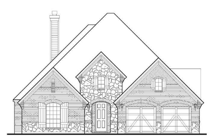 American Legend Plan 1618 Elevation C in The Grove Frisco