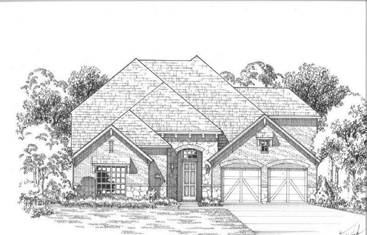 American Legend Plan 1609 Elevation B Stone in The Grove Frisco