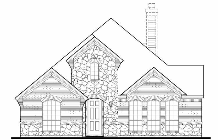 American Legend Plan 1551 Elevation A Stone in The Grove Frisco