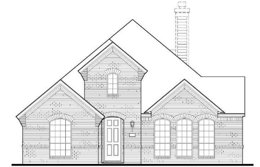 American Legend Plan 1551 Elevation A in The Grove Frisco
