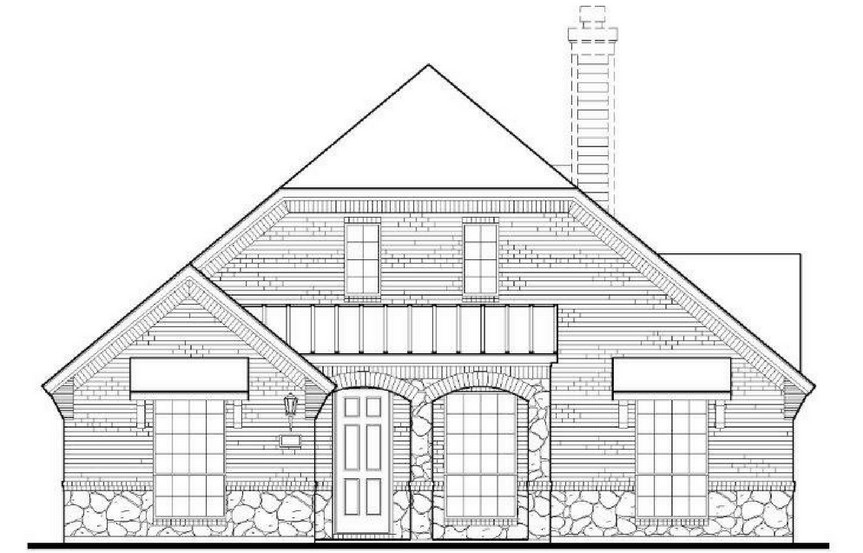 American Legend Plan 1551 Elevation B in The Grove Frisco