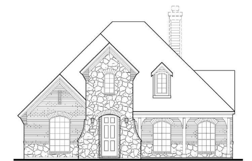 American Legend Plan 1551 Elevation C in The Grove Frisco