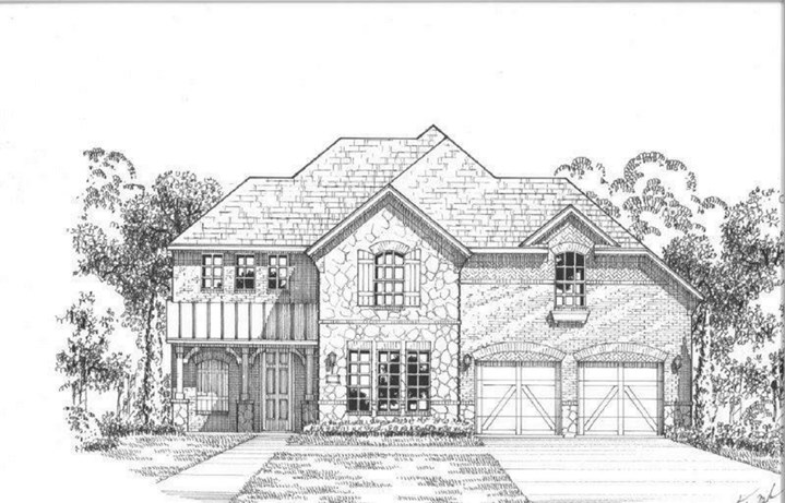 American Legend Plan 1607 Elevation C Stone in The Grove Frisco