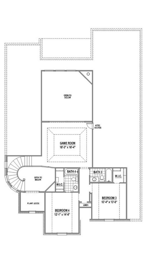 American Legend 1607 Floorplan Upper in The Grove Frisco