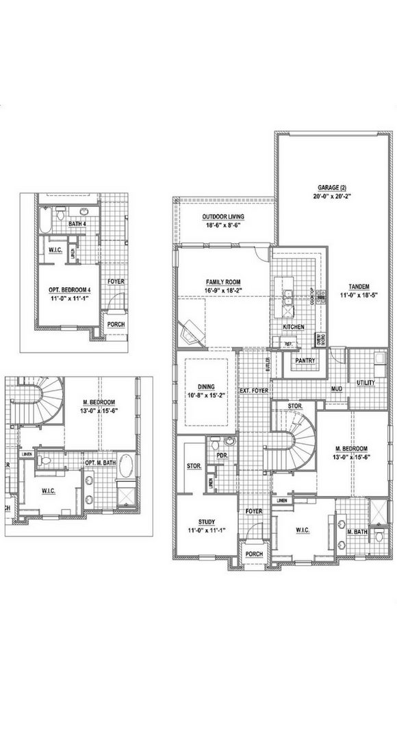 American Legend Plan 1558 Floorplan Lower in The Grove Frisco