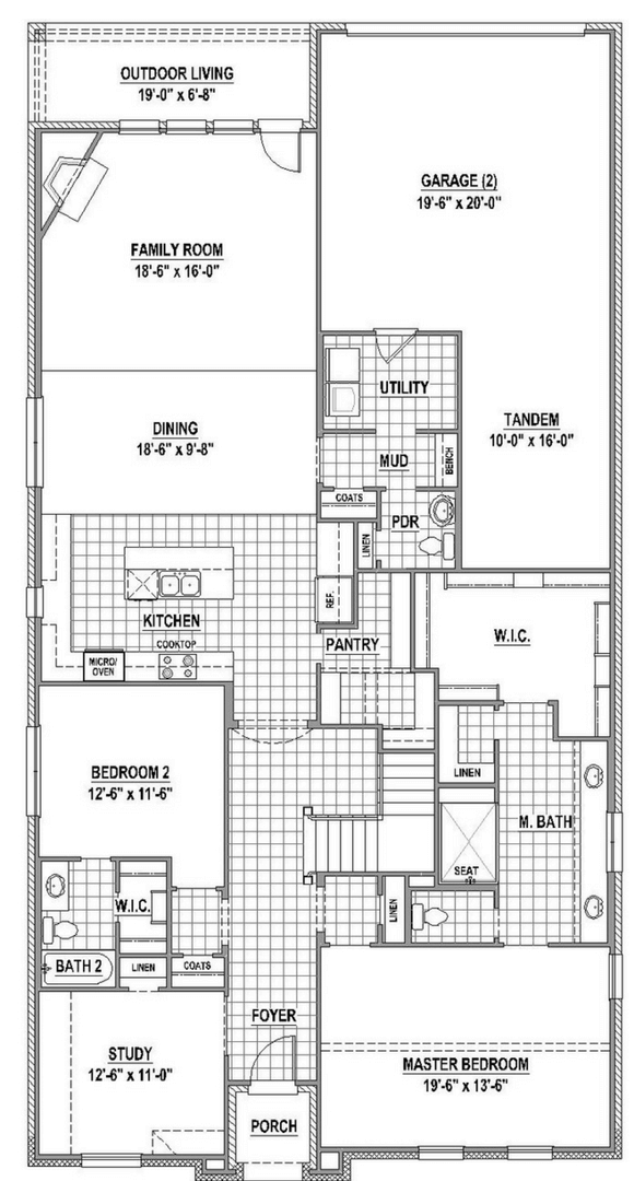 American Legend 1557 Floorplan Lower in The Grove Frisco