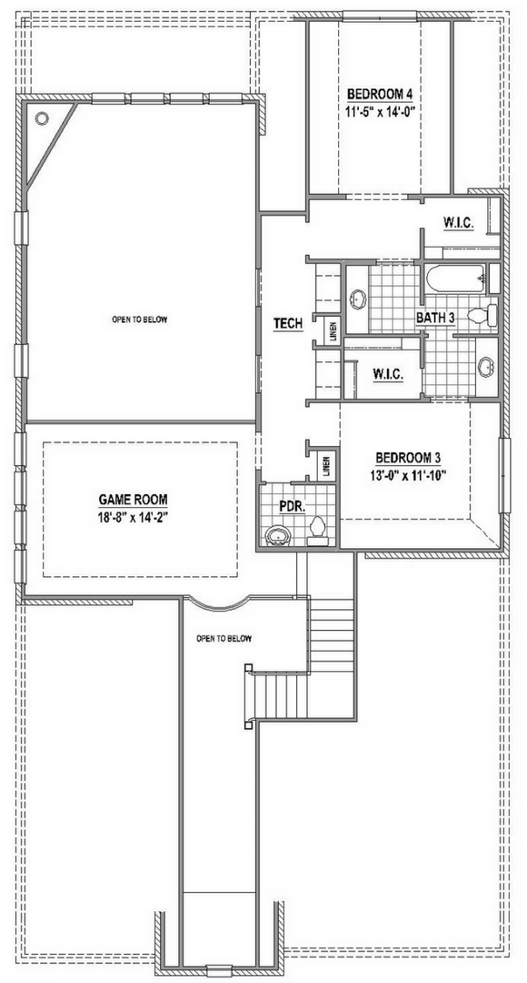 American Legend 1557 Floorplan Upper in The Grove Frisco