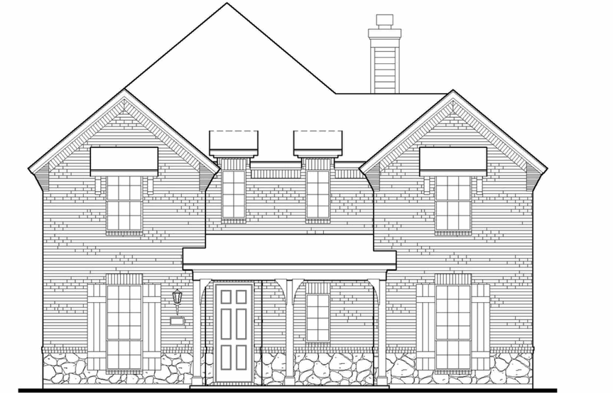American Legend Plan 1556 Elevation B in The Grove Frisco