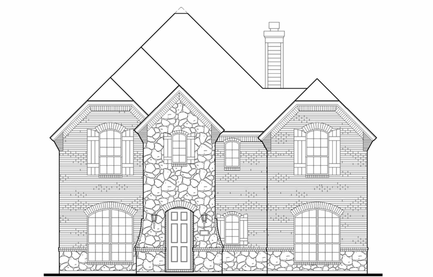 American Legend Plan 1556 Elevation C in The Grove Frisco