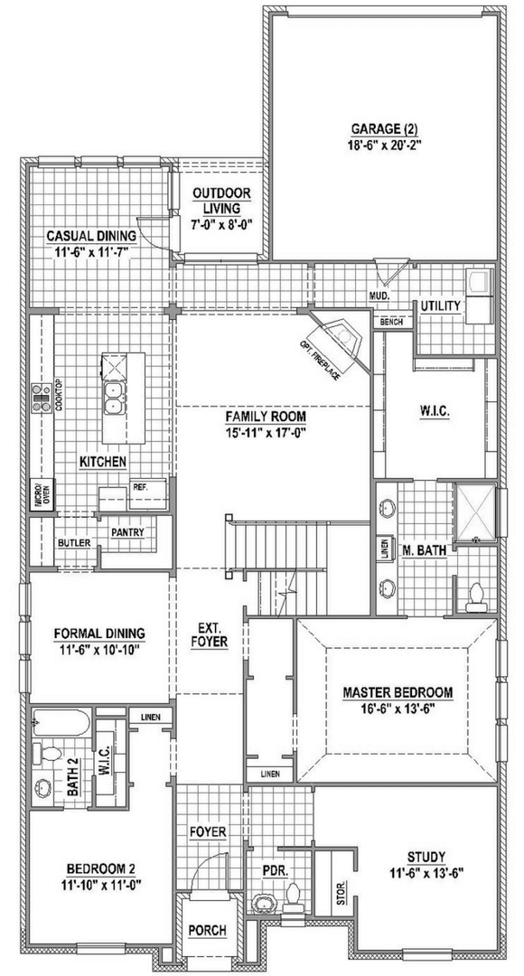 American Legend 1556 Floorplan Lower in The Grove Frisco