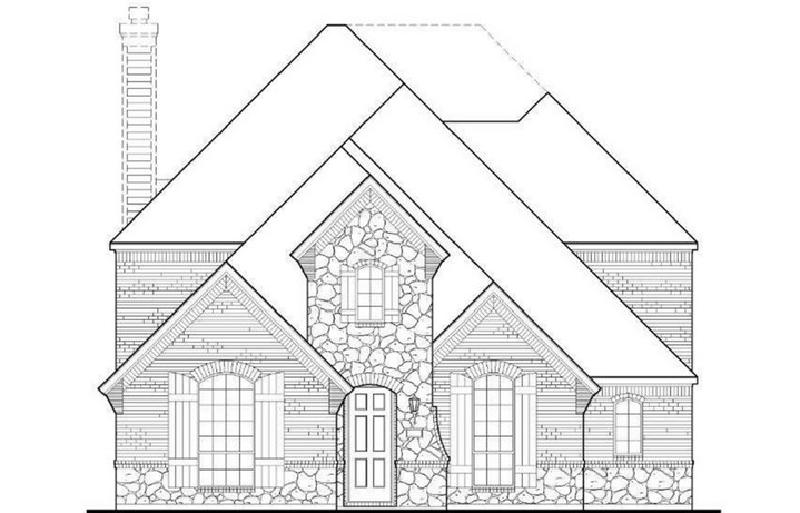 American Legend Plan 1554 Elevation C in The Grove Frisco