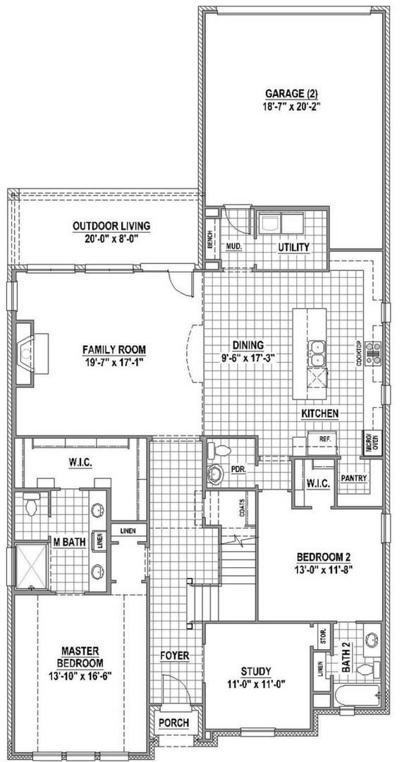 American Legend 1554 Floorplan Lower in The Grove Frisco