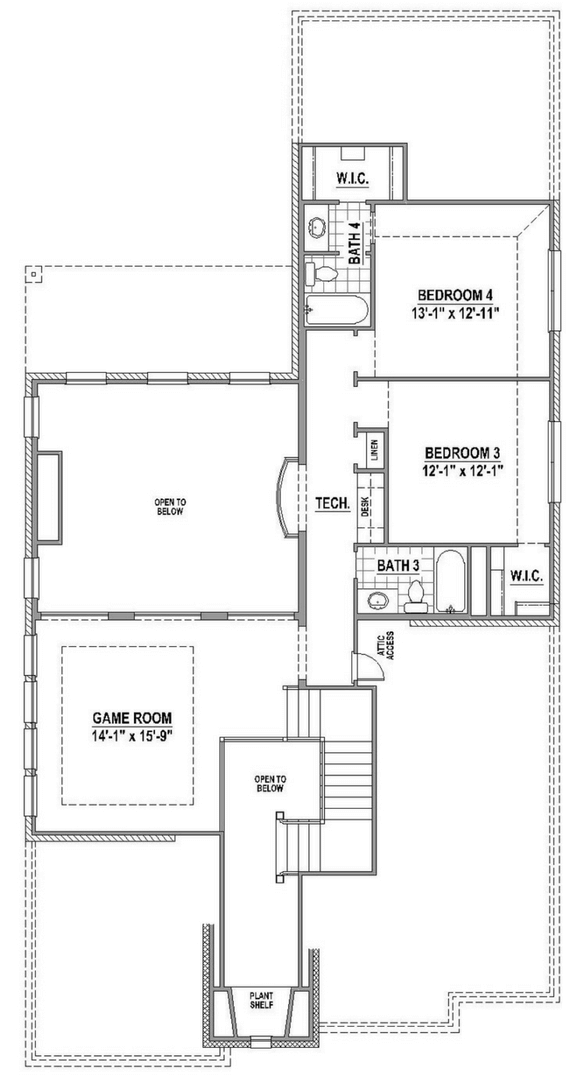 American Legend 1554 Floorplan Upper in The Grove Frisco