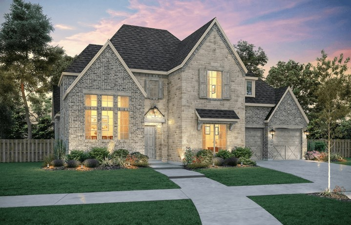 Southgate Homes Plan Belmont Elevation A in The Grove Frisco