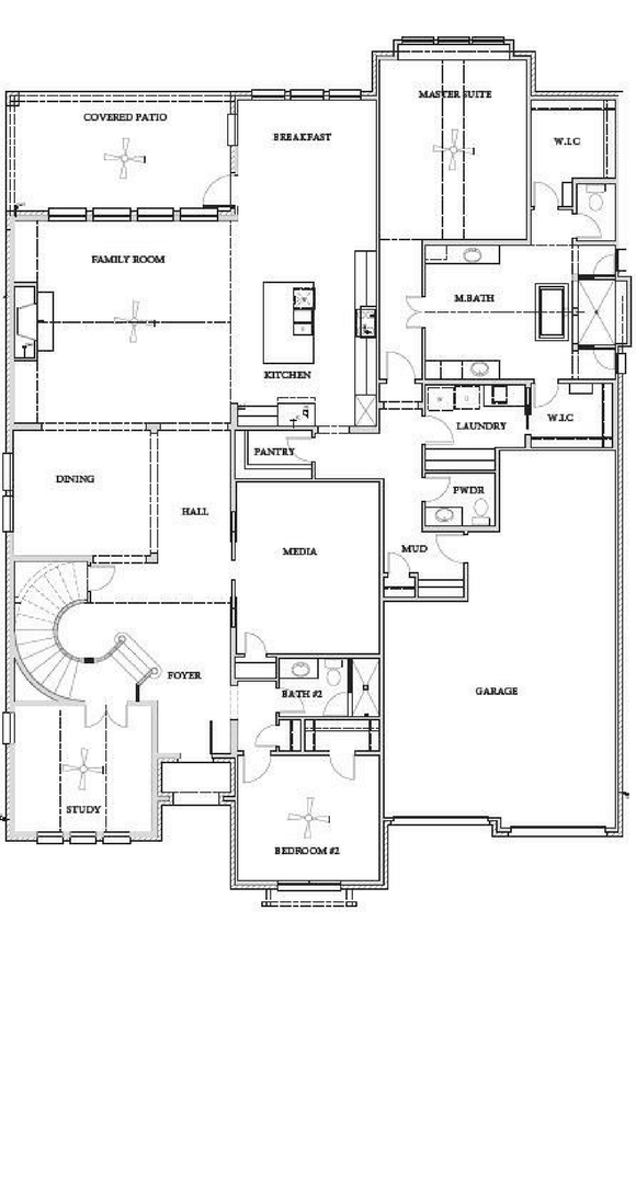 Southgate Homes Belmont Floorplan in The Grove Frisco