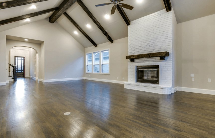 Southgate Homes Plan Charlotte Great Room in The Grove Frisco