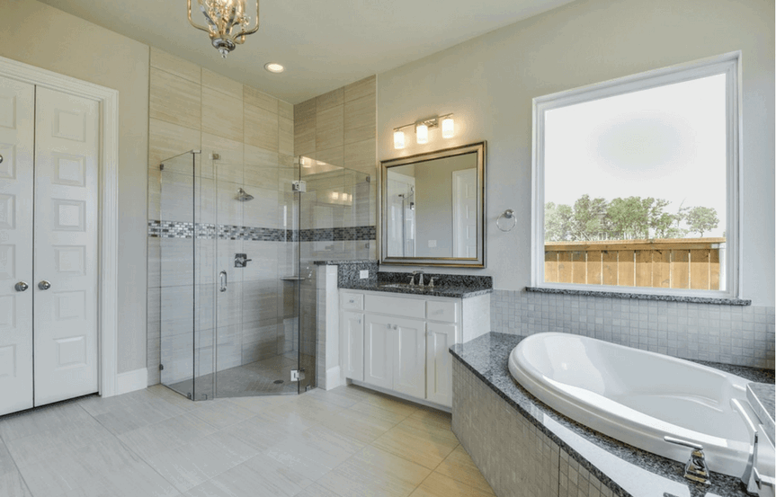 Southgate Homes Plan Charlotte Master Bath in The Grove Frisco