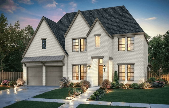 Southgate Homes Plan Charlotte Elevation A in The Grove Frisco