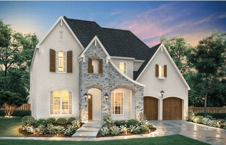 Southgate Homes Plan Savannah Elevation A in The Grove Frisco