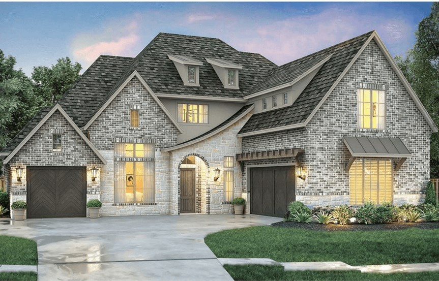 Southgate Homes Plan Bridgeport Elevation A in The Grove Frisco