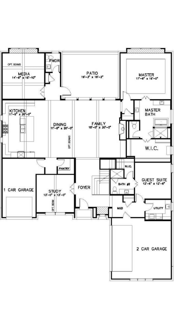 Southgate Homes Bridgeport Floorplan in The Grove Frisco