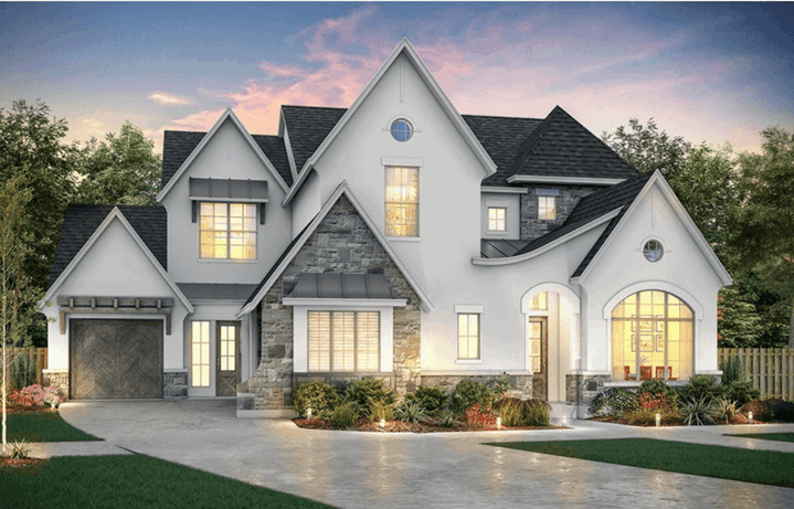 Southgate Homes Plan Hanover Elevation E in The Grove Frisco