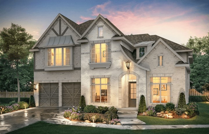 Southgate Homes Plan Madison Elevation A in The Grove Frisco